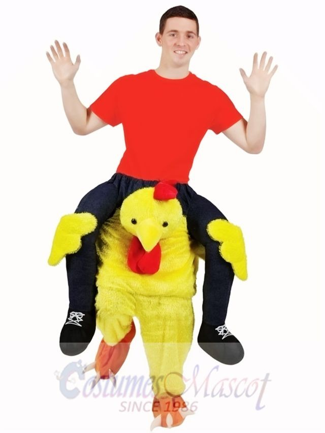 Carry Me Chicken Adults Ride On Animal Fancy Dress Animal Mascot Stag Costume