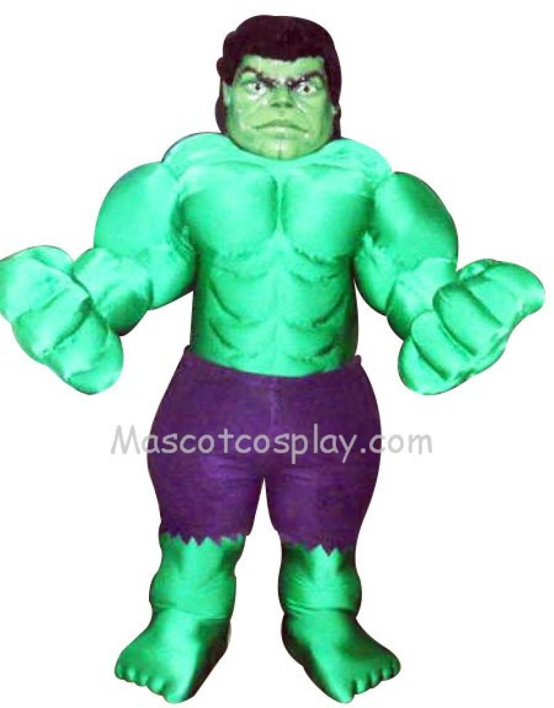 Incredible Hulk Mascot Costume Fancy Dress Outfit