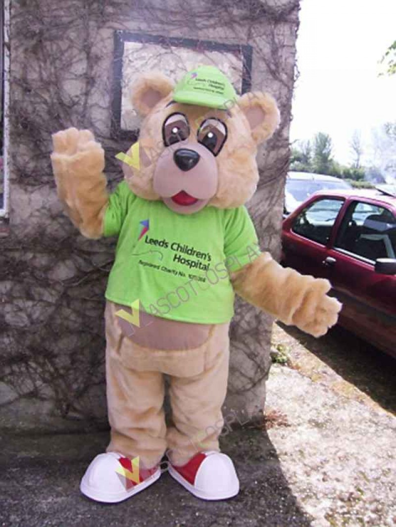 High Quality Adult Tan Bear Mascot Costume