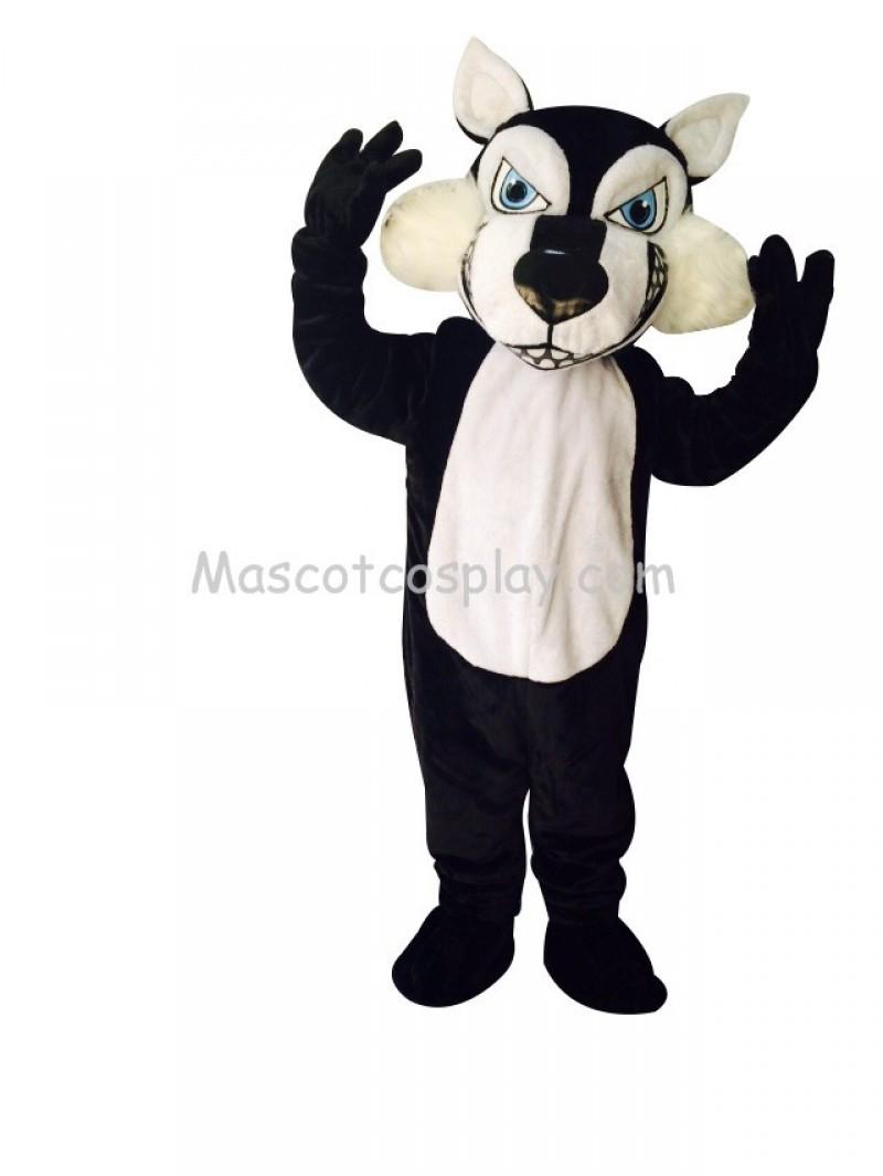 Firece Black Wolfey Wolf Costume Mascot