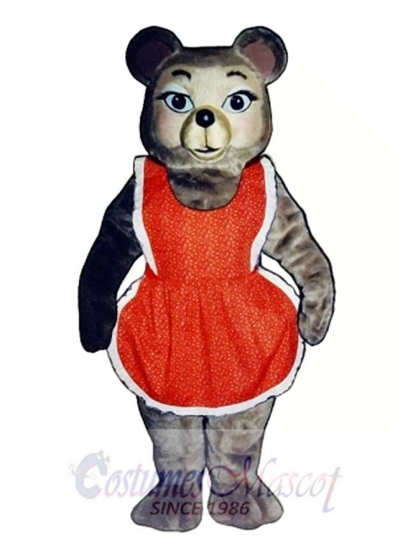 New Thelma Bear with Dress Mascot Costume