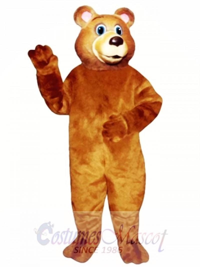 Cute Blue Eyed Bear Mascot Costume
