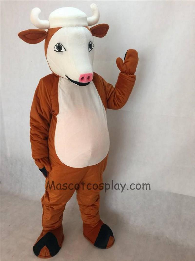 Cute Henry Hereford Cattle Mascot Costume