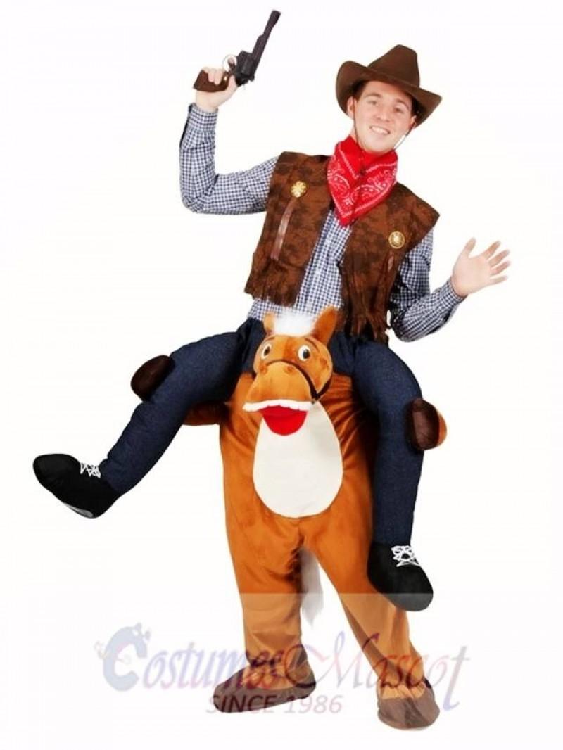 Wild Western Horse Carry Me Piggy Back Mascot Fancy Dress Farm Cowboy Costume