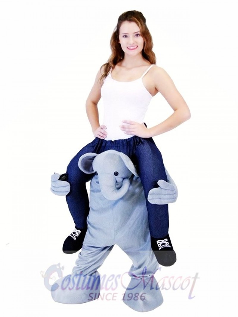 Piggyback Ride On Elephant Carry Me Ride on Elephant Mascot Costume