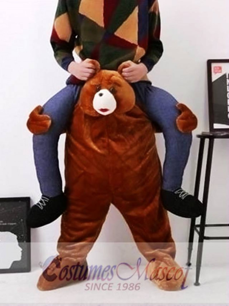 Carry Me Ride on Teddy Bear Oktoberfest Mascot Costume