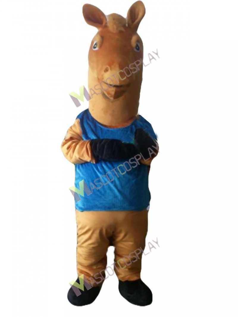 Sport Basketball Team Horse in Suit Mmascot Costume