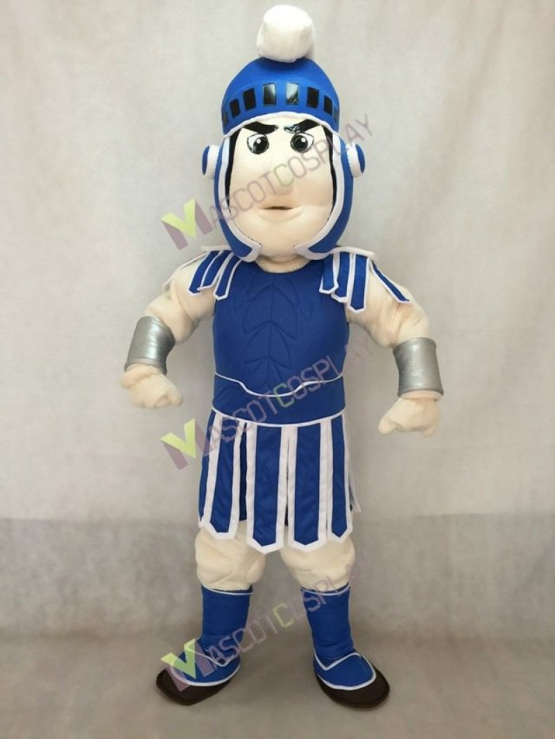 Dark Blue Spartan Trojan Knight Sparty Mascot Costume