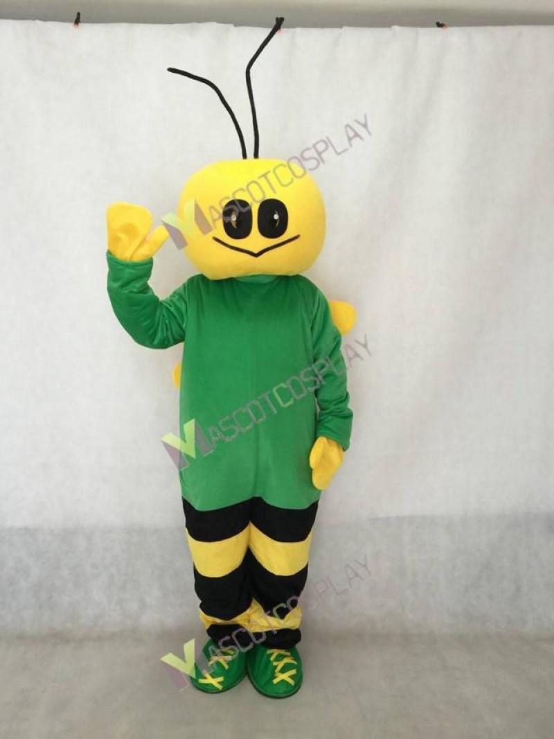 Green and Yellow Bee Mascot Costume