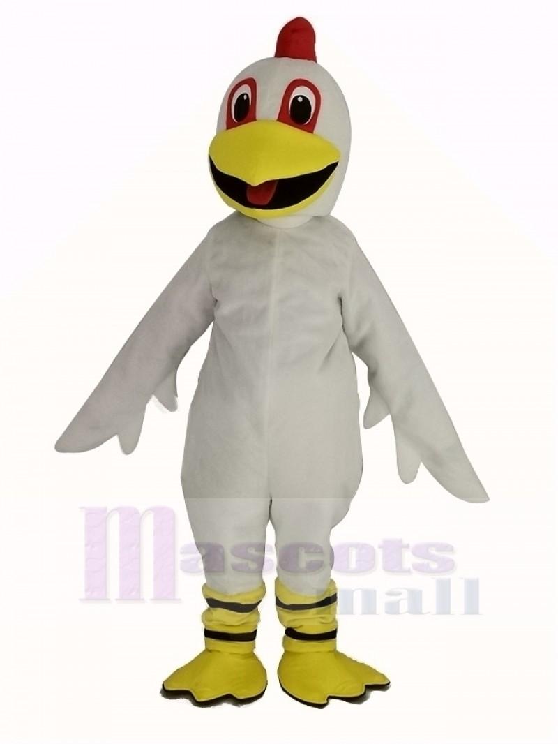 White Chicken Mascot Costume Animal