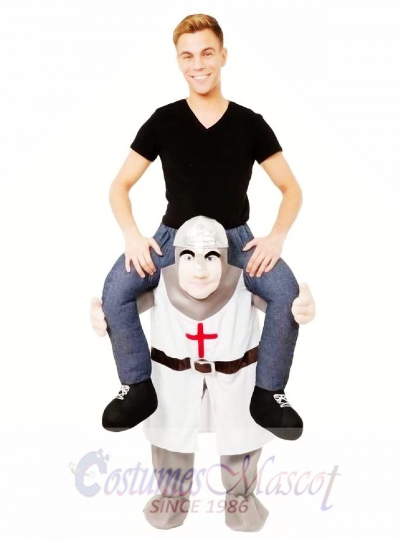 The Crusades Piggy Back Carry Me Mascot Costume Crusader Knight Fancy Dress