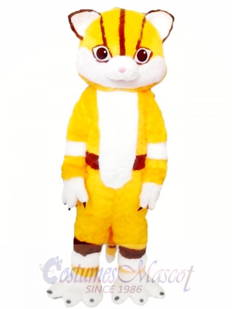 Yellow Cat Mascot Costumes