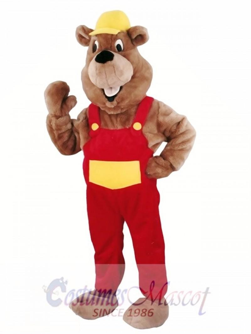 Beaver Mascot Walking Act Promotion Costume