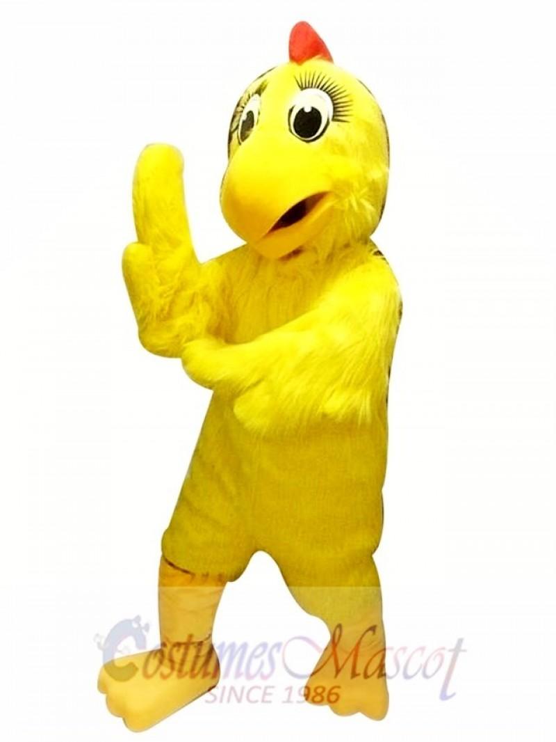Yellow Chicken Hen Mascot Costume