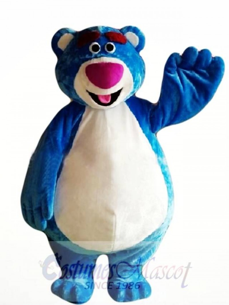 Cartoon Character Blue Bear Mascot Costume