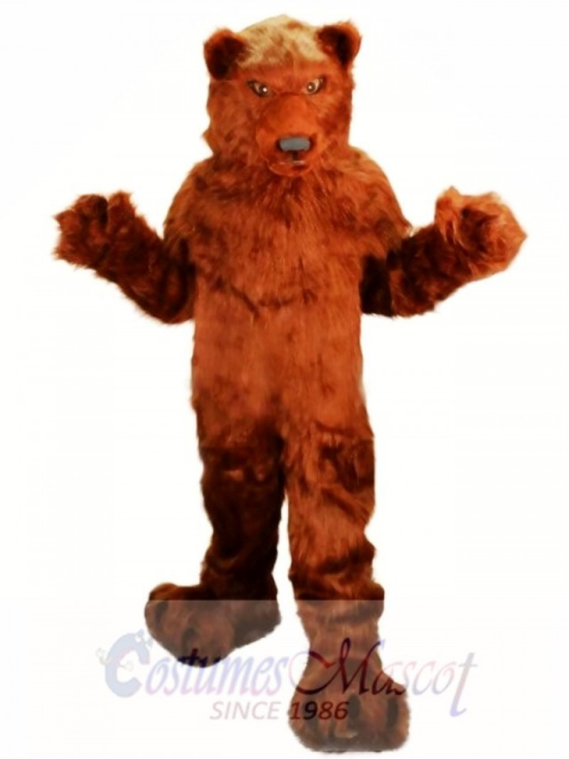Long Hair Grizzly Bear Mascot Costume