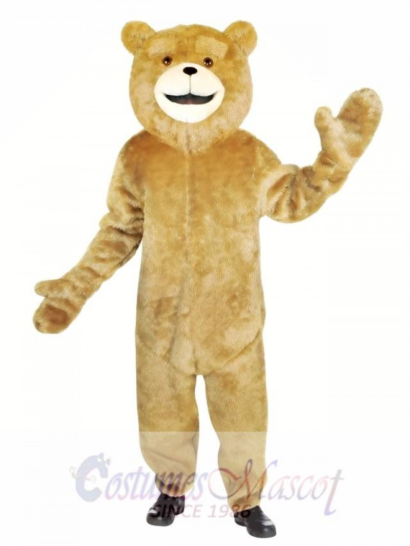Ted Jumpsuit Bear Mascot Costume