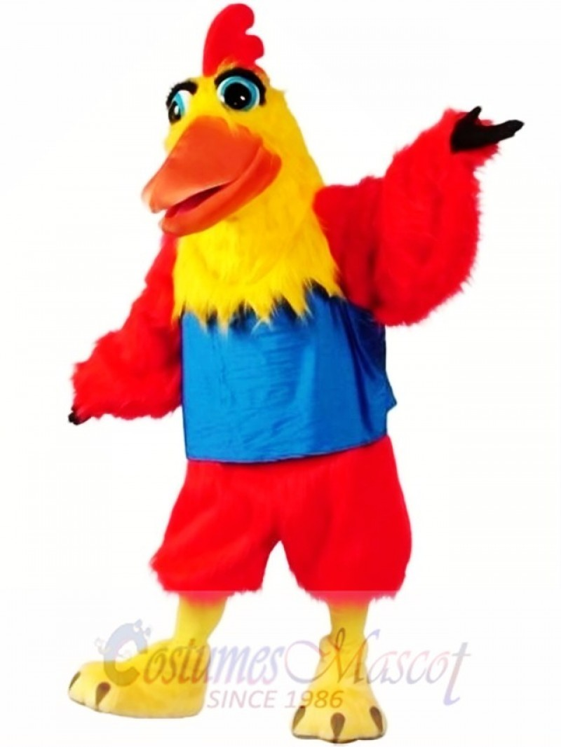 High Quality Rooster Mascot Costume