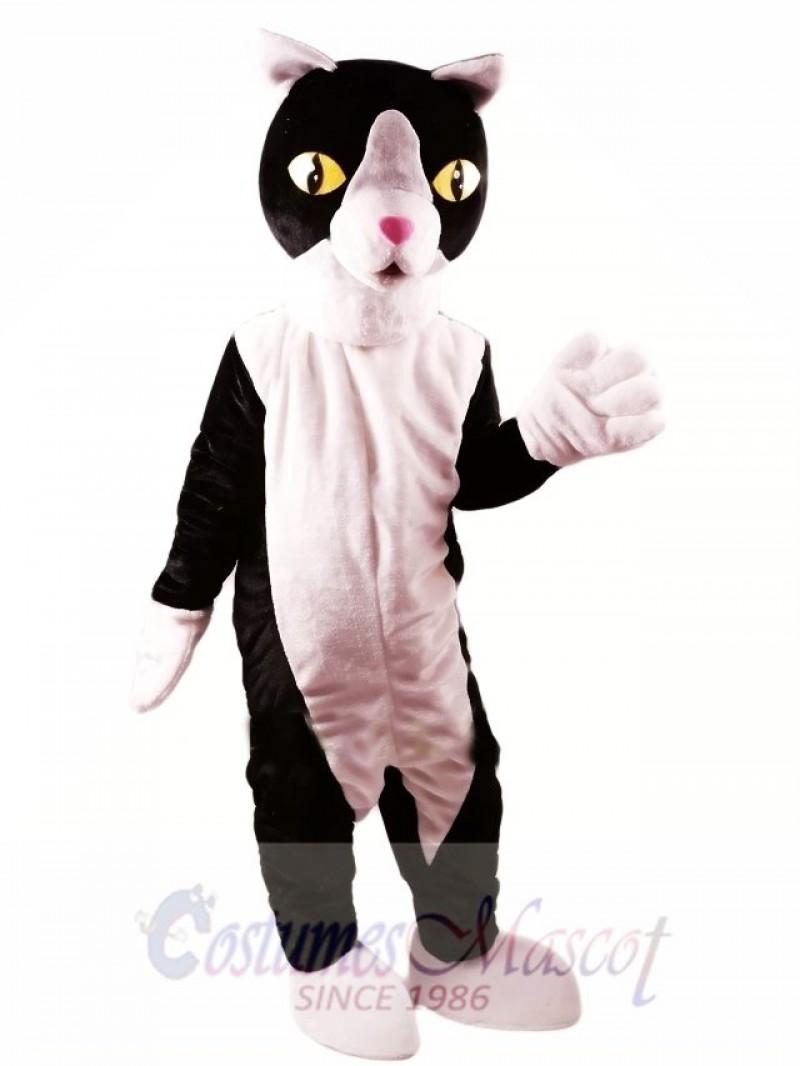 Black and White Cat Mascot Costume