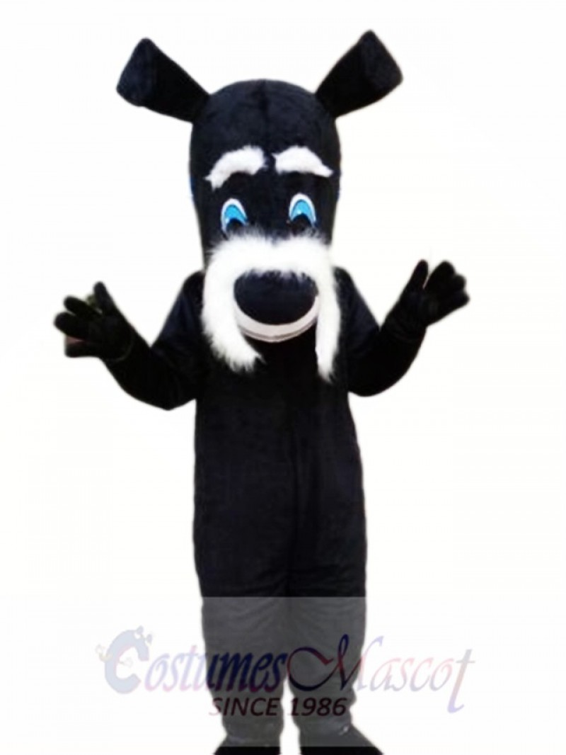 Black Dog Mascot Costume Cartoon