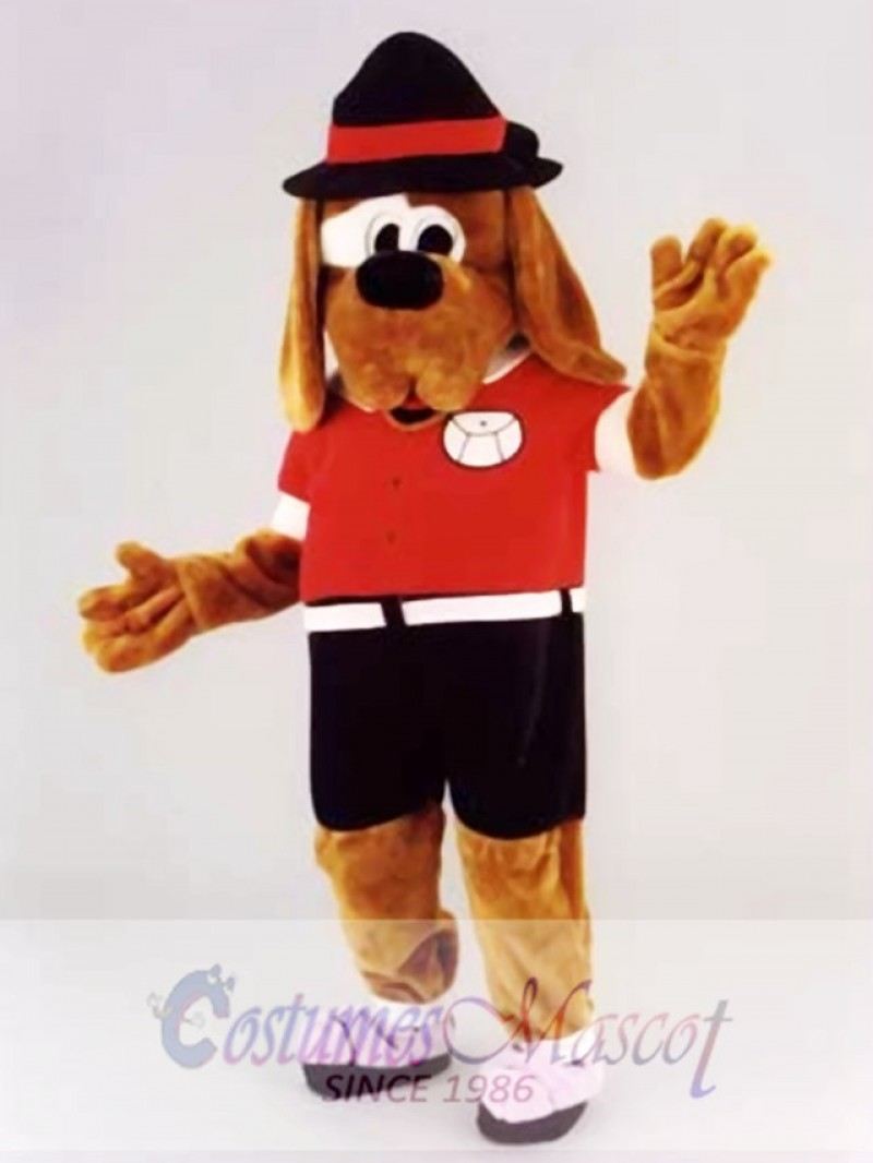 Coffee Dog Mascot Costume