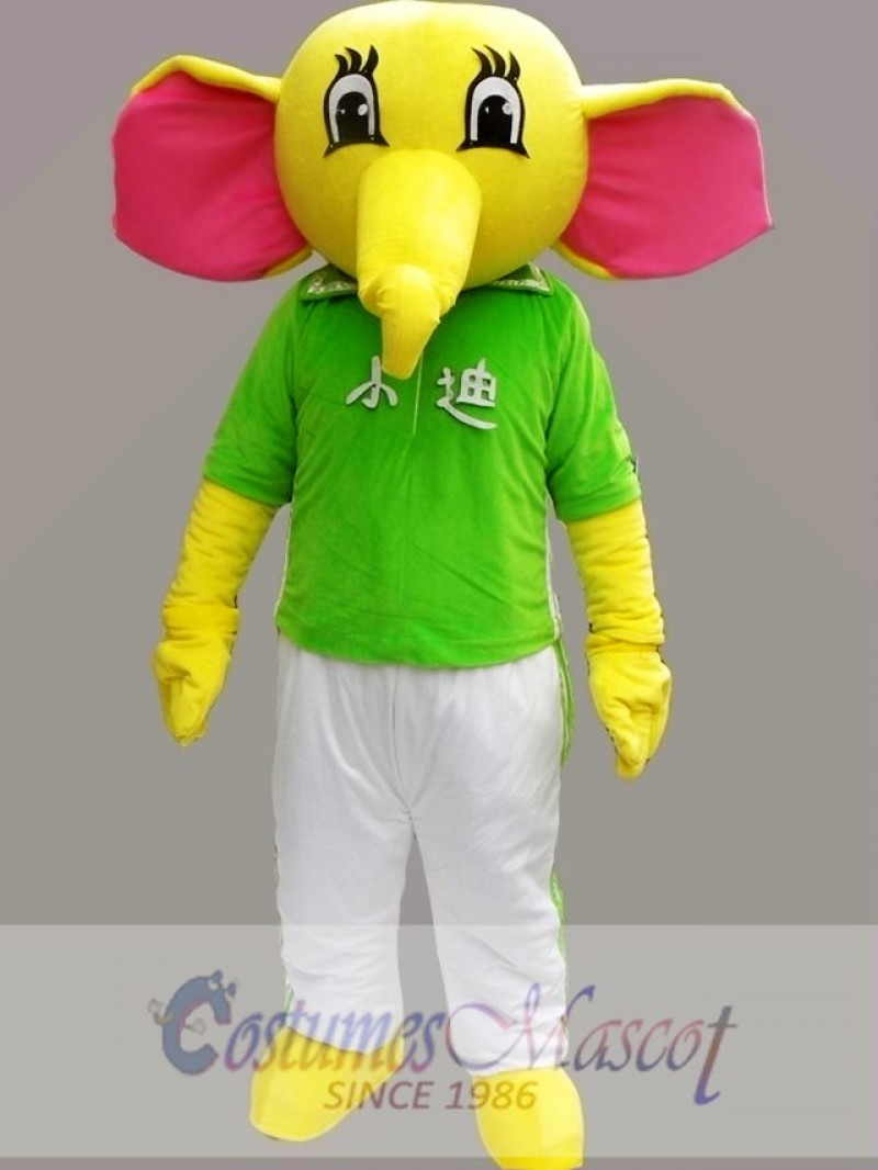 Yellow Elephant Mascot Costume Cartoon