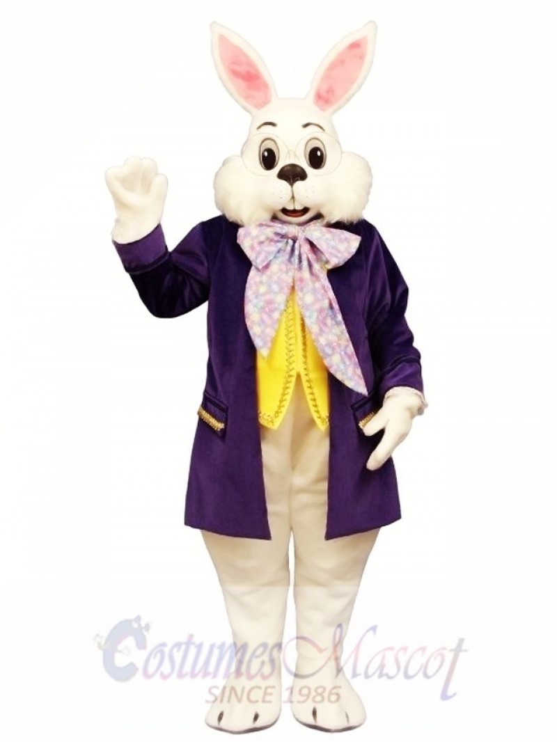 Wendell Purple Rabbit Easter Bunny Mascot Costume