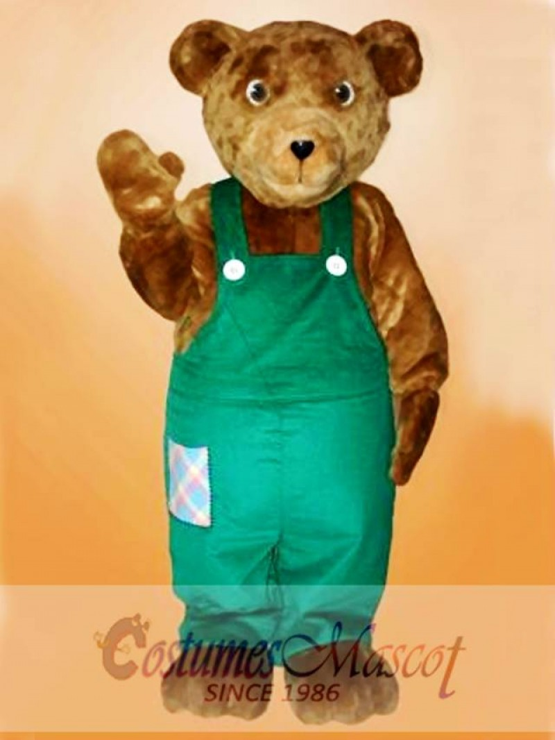 Cute Corduroy Bear Mascot Costume