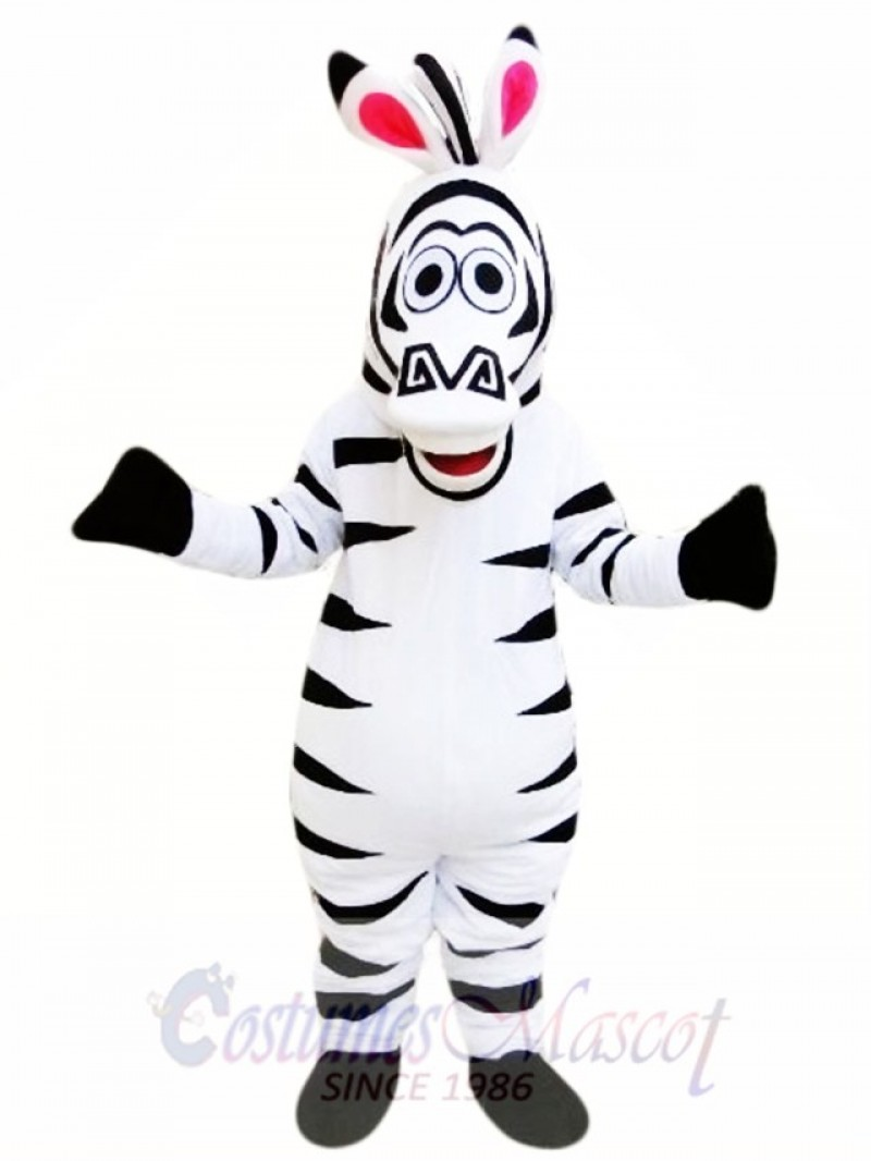 Cute Zebra Horse Mascot Costume