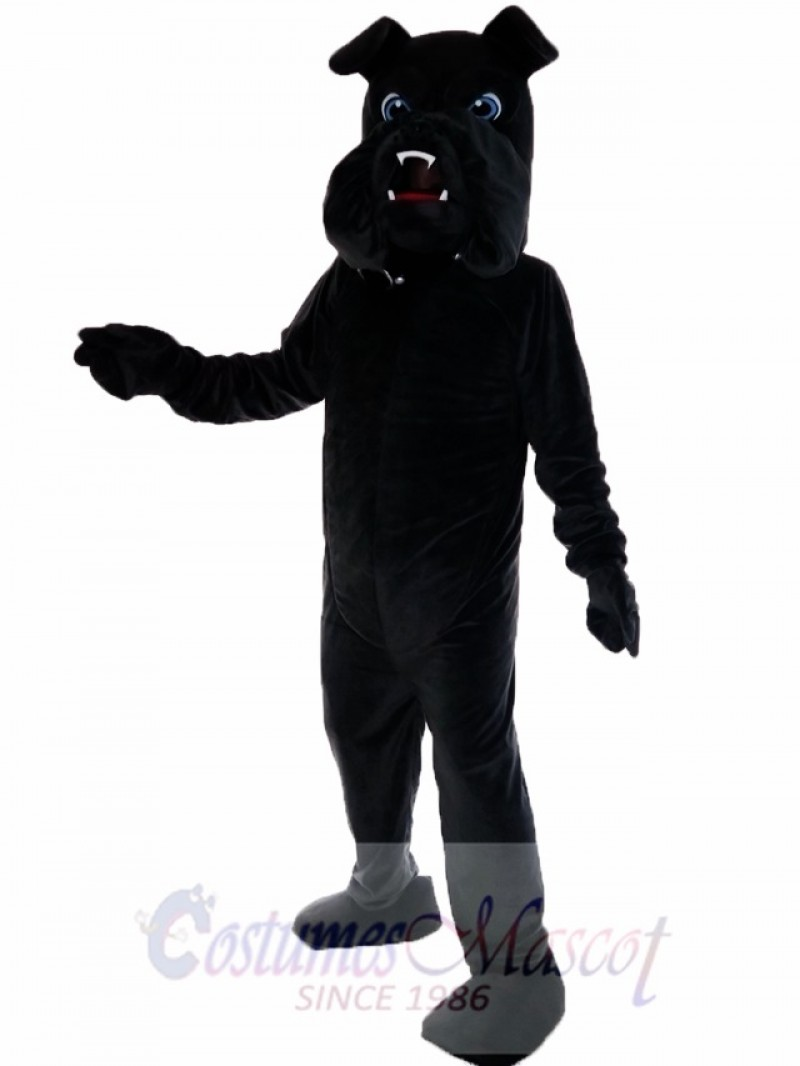 Black Bulldog Bull Dog Mascot Costume