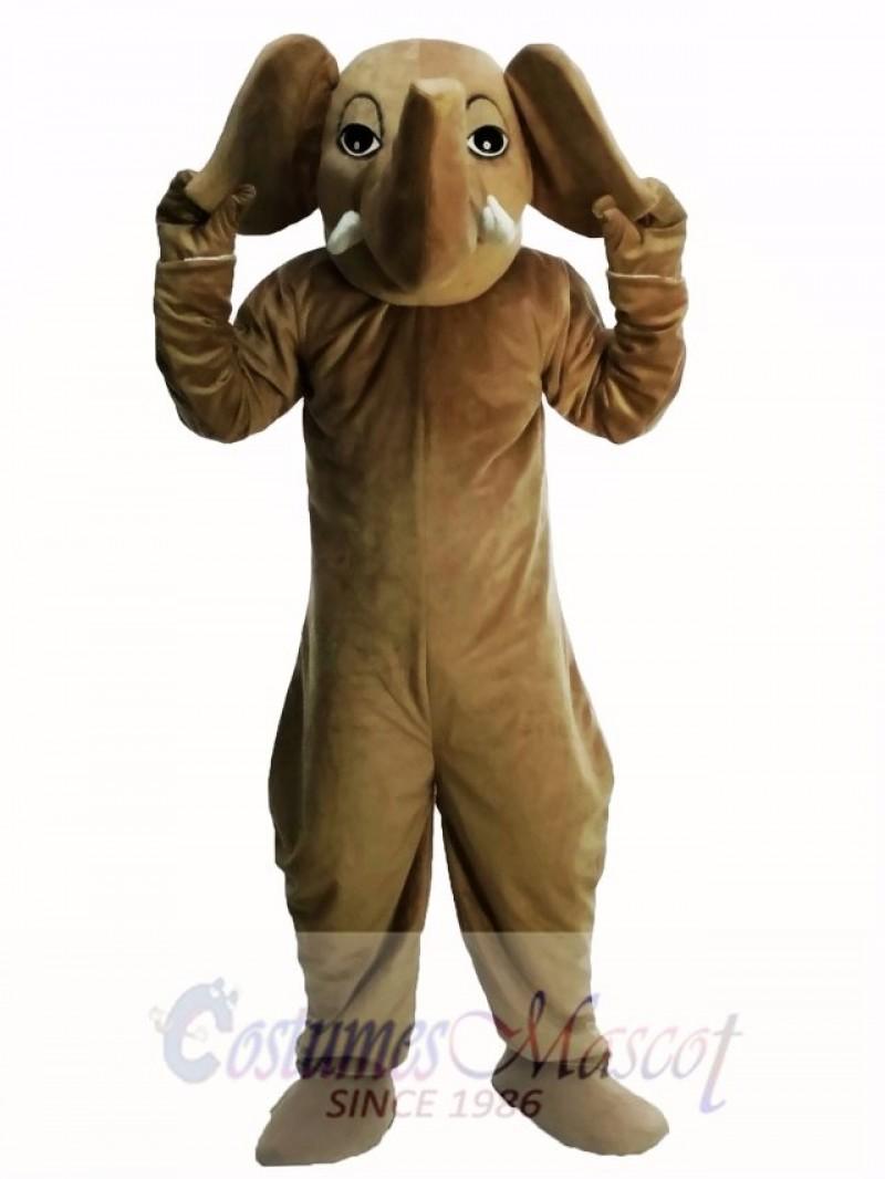 Brown Elephant Masot Costume