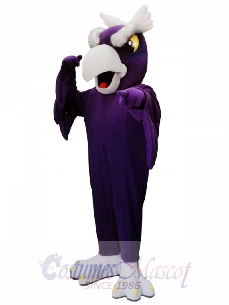 Purple Eagle Bird Mascot Costume