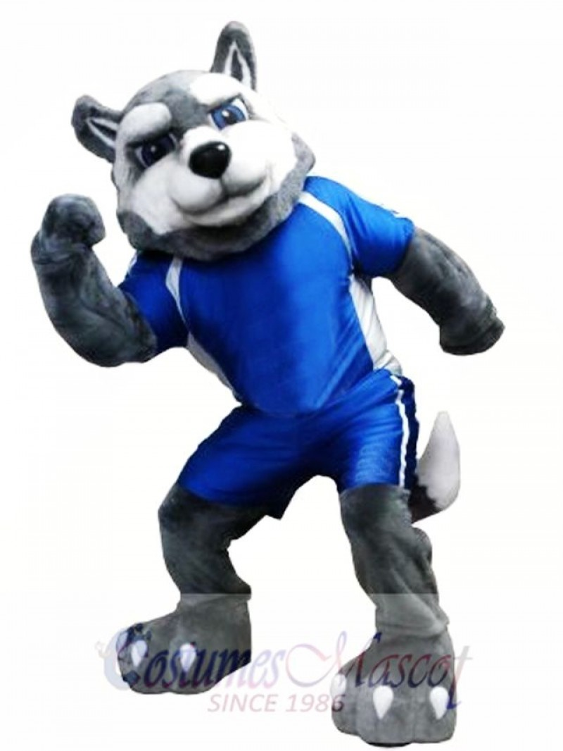 Power Husky Dog Mascot Costume