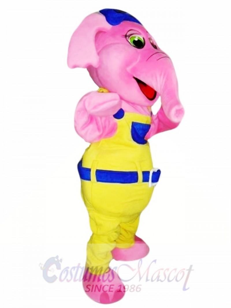 Pink Elephant Mascot Costume Adult Costume