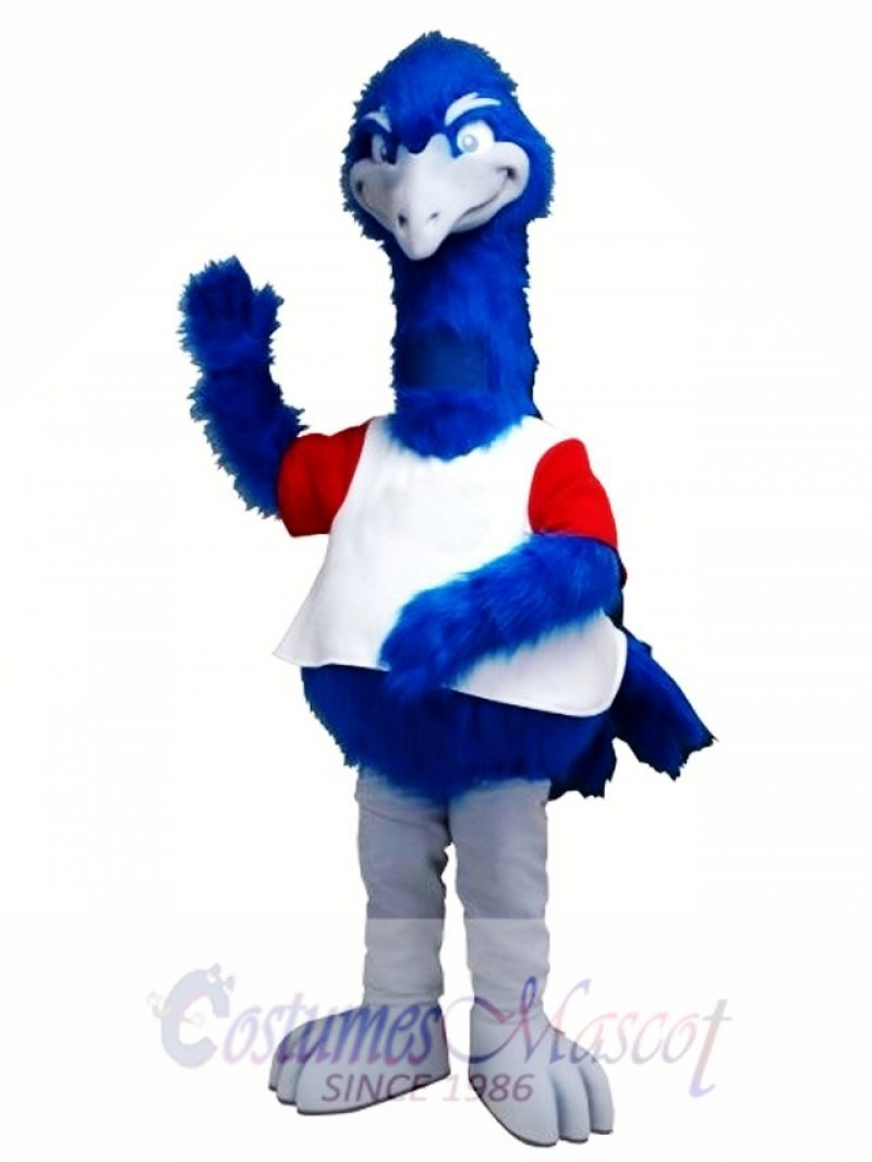 Big Tall Blue Bird Ostrich Mascot Costume