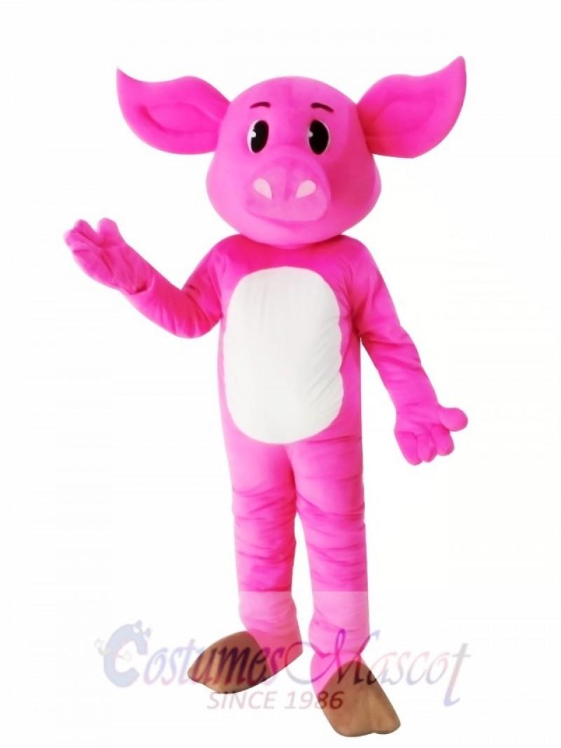 Adult Pink Pig Mascot Costume