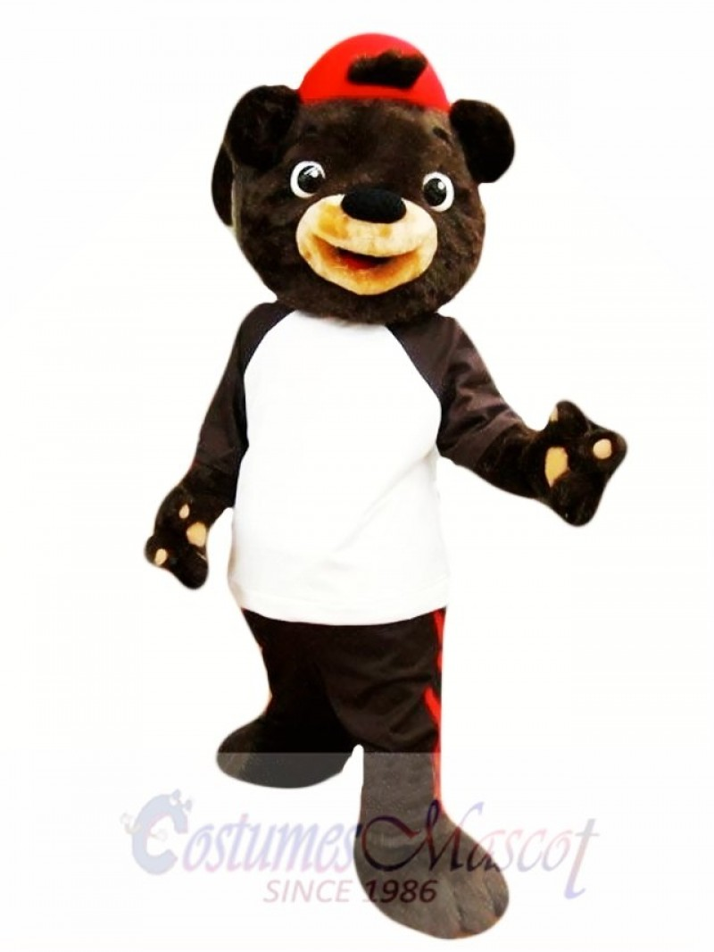 Chocolate Bear Mascot Costume