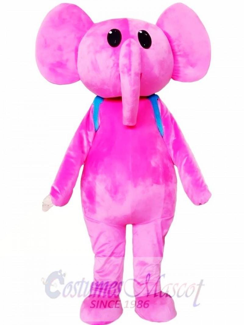 Adult Pink Elephant Mascot Costume