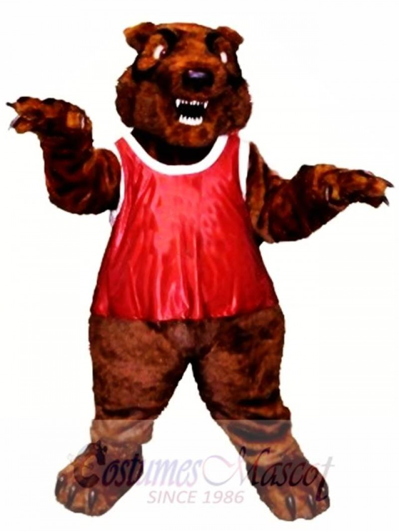 Fierce Grizzly Bear Mascot Costume