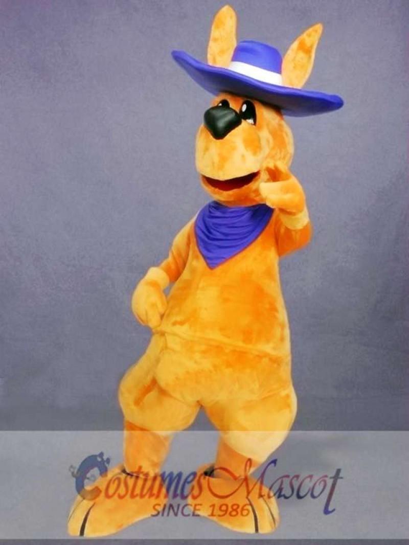 Friendly Adult Kangaroo Mascot Costume