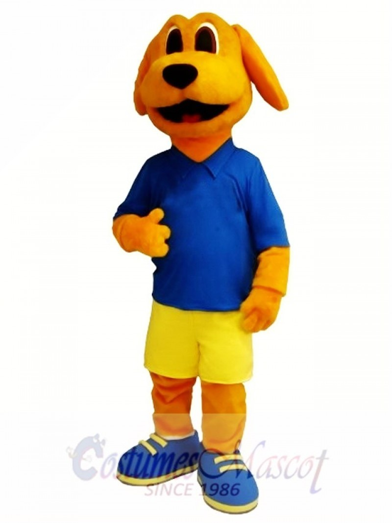 Cute Golden Dog Mascot Costume