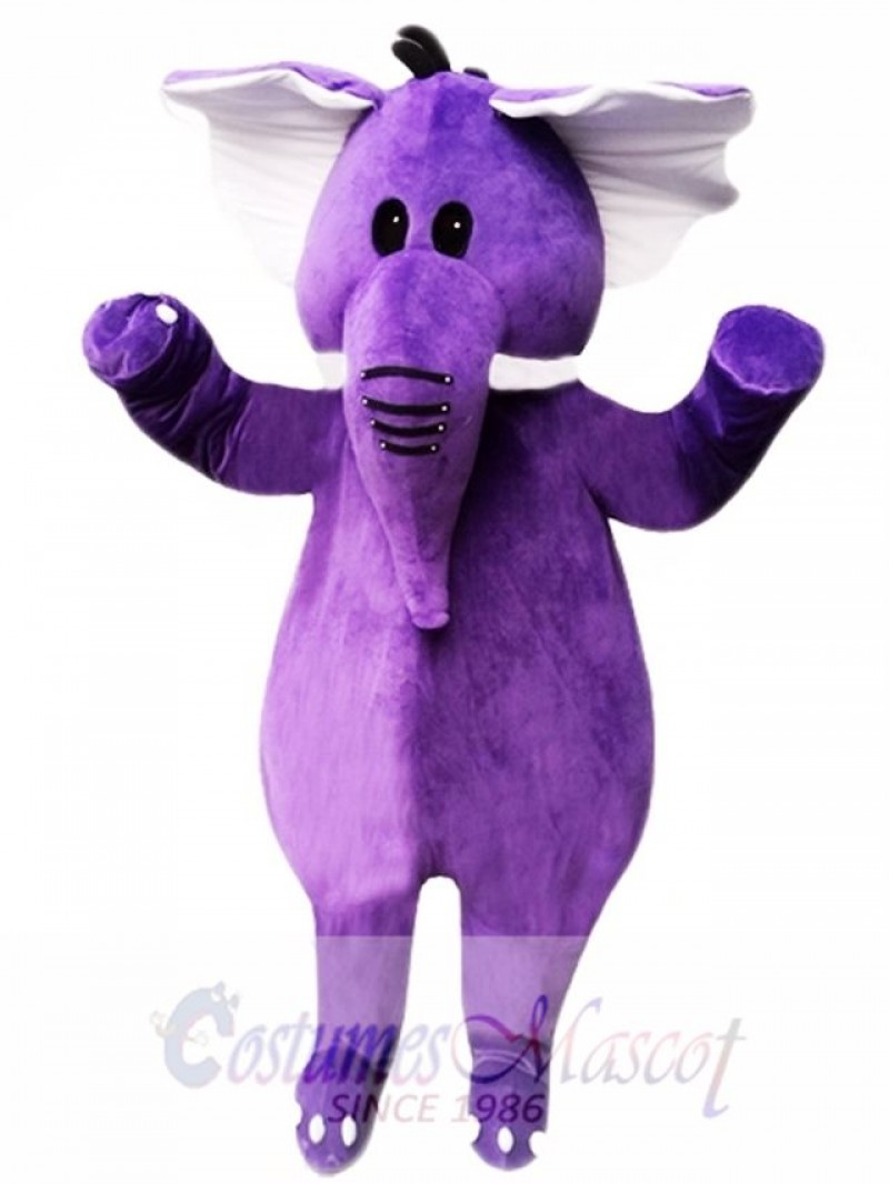 Purple Elephant Mascot Costume For Adults Christmas Halloween