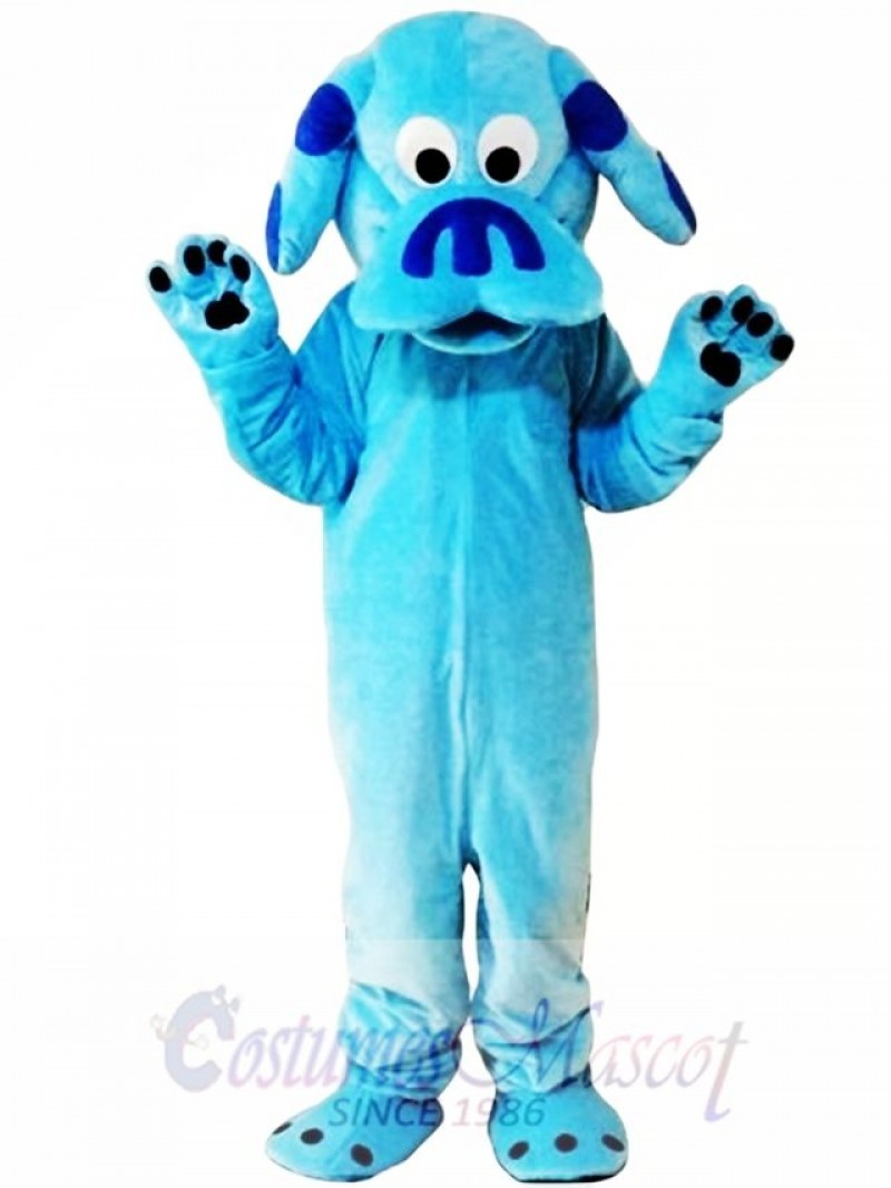 Sky Blue Dog Mascot Costume