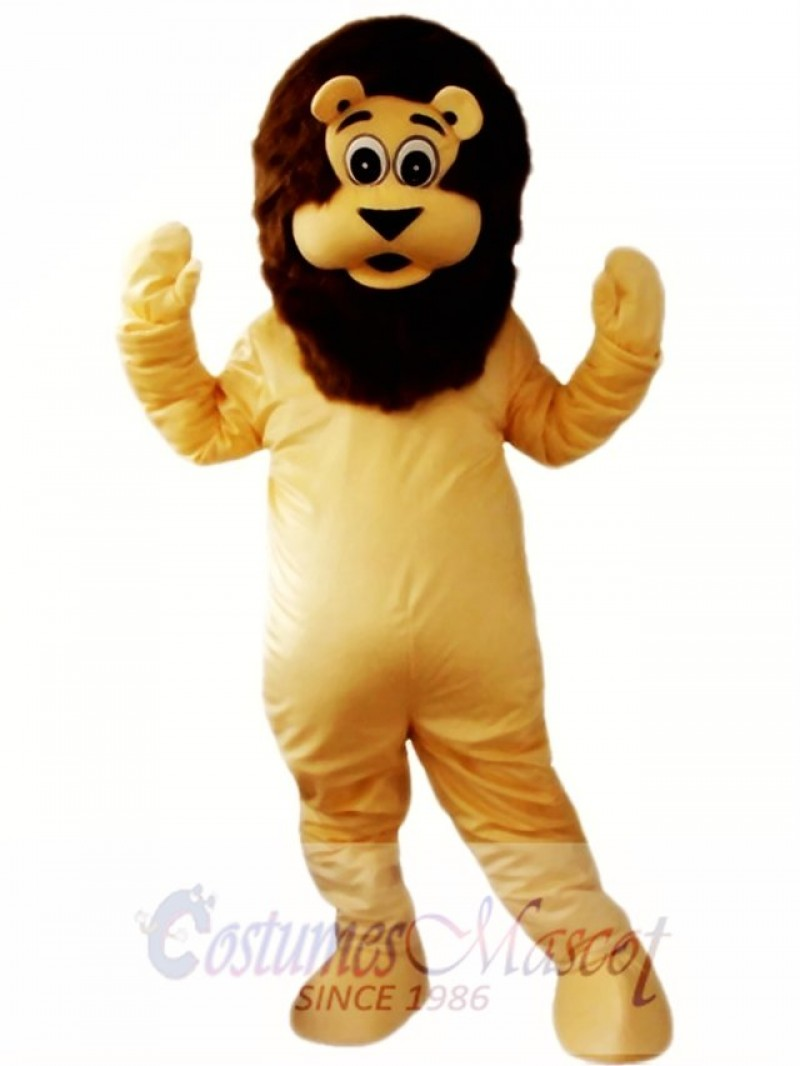 Cartoon Lion Mascot Costume