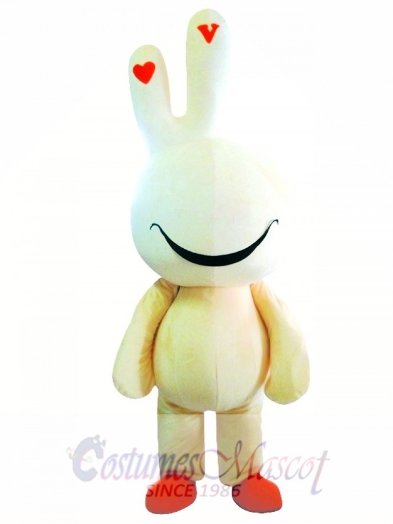 Yellow Cute Easter Bunny Bug Rabbit Mascot Costume
