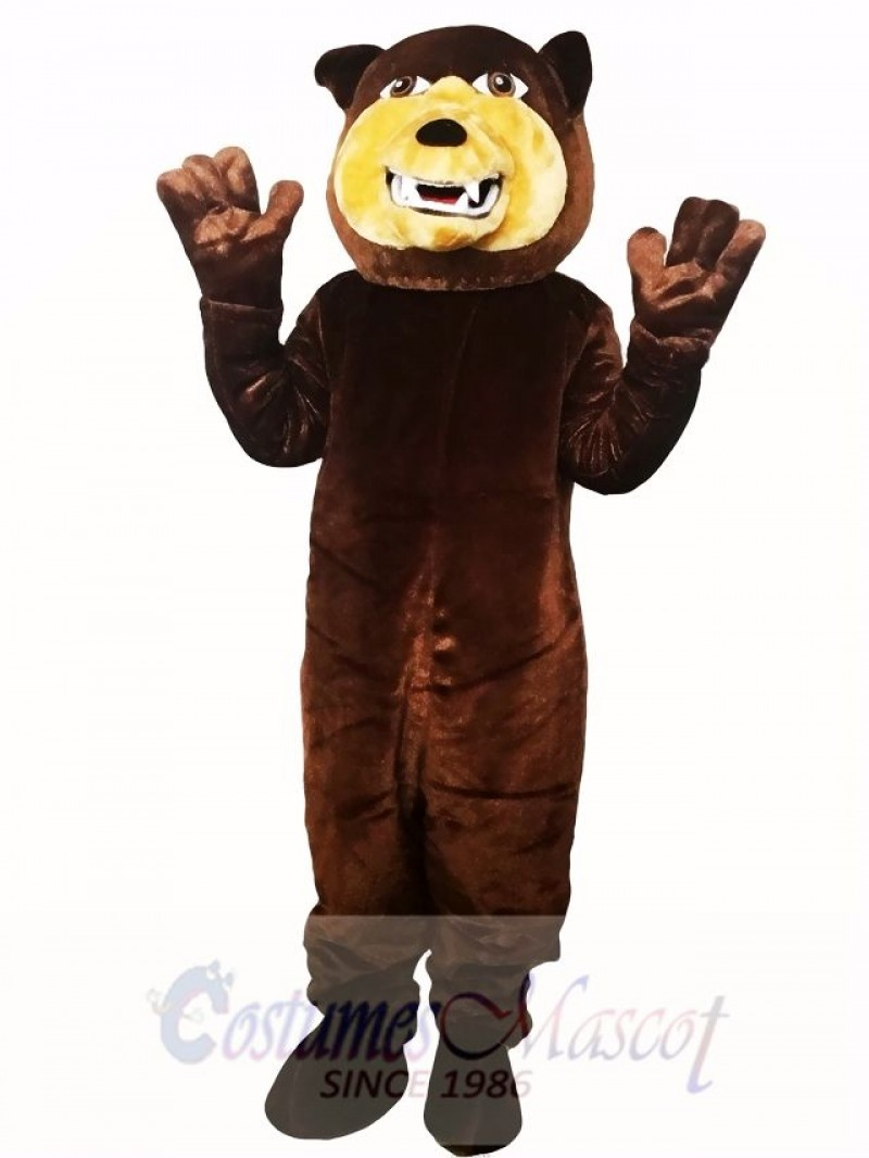 Brown Grizzly Bear Flexible Mascot Costume