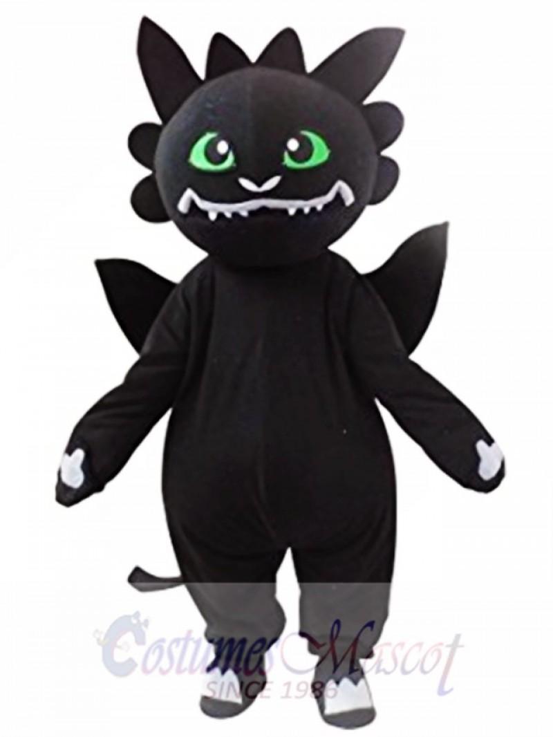 Black Dragon Mascot Costume