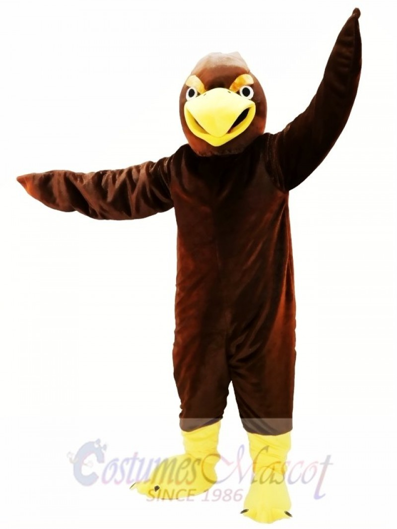 Brown Hawk Mascot Costume
