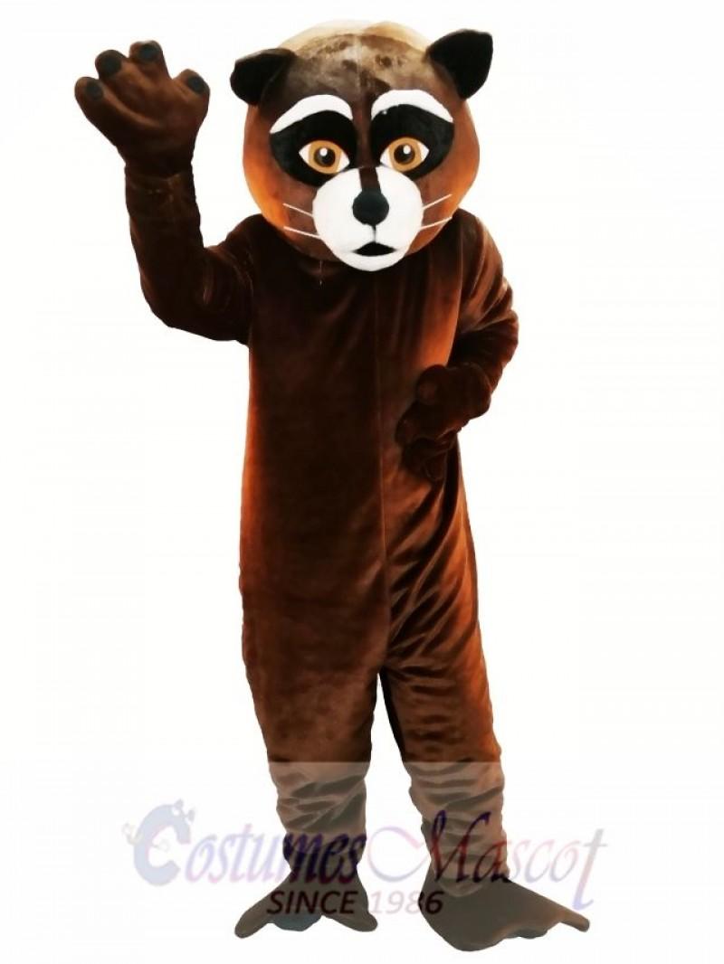 Brown Raccoon Mascot Costume