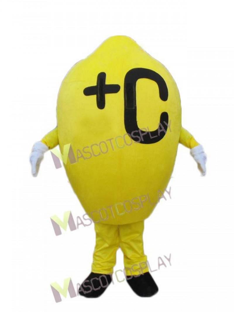 Yellow Lemon Fruit Mascot Costume
